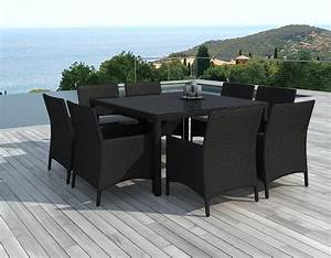 Emejing table et chaise de jardin noir ideas awesome for Table jardin chaises