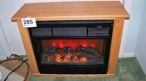 Heat Surge Electric Fireplace, Amish Made Oak
