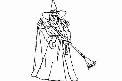 Coloring Witch Pages Wizard Oz Printable Evil