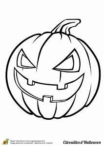 Tete De Citrouille Pour Halloween : coloriage citrouille halloween qui ricane ~ Melissatoandfro.com Idées de Décoration