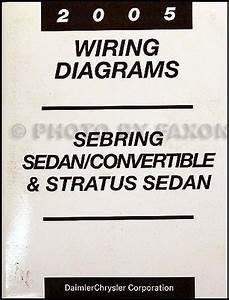 2005 Mopar Stratus Sebring Sedan  Covertible Wiring Diagram Manual