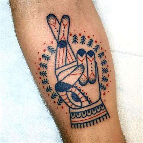 wonderful  nice fingers crossed tattoo golfiancom