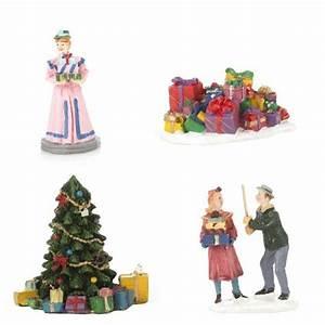 Personnage Pour Village De Noel : lot de figurines et accessoires cadeaux pour village village de noel eminza ~ Melissatoandfro.com Idées de Décoration