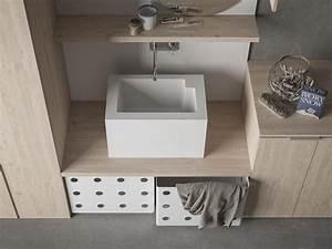 Waschtisch Schrank Für Aufsatzwaschbecken : praktische designer schr nke f r hauswirtschaftsraum ~ Whattoseeinmadrid.com Haus und Dekorationen