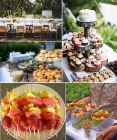 wedding reception food ideas backyard wedding food ideas marceladick