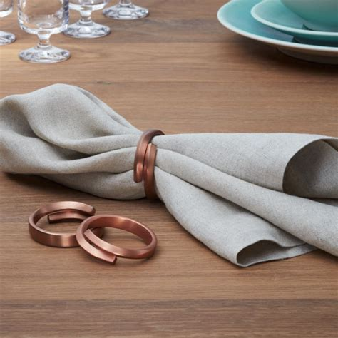 Wrap Copper Napkin Ring   Reviews   Crate and Barrel