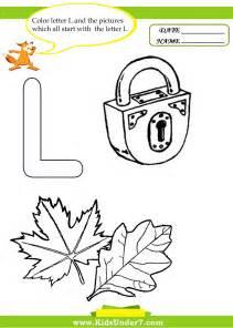 Letter L Coloring Worksheet