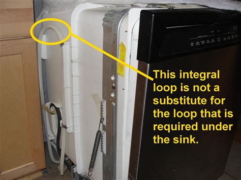 basement drain the most common dishwasher installation defect