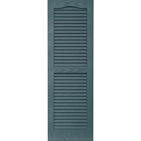 shop vantage 2 pack wedgewood blue louvered vinyl exterior shutters common 14 in x 43 in