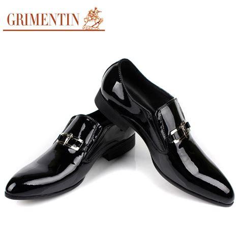 grimentin fashion italian business patent genuine leather