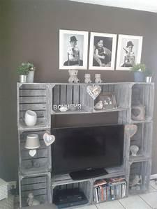 meilleur de fabriquer meuble avec palettes l39idee d39un With fabriquer meuble tele avec palettes