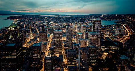 seattle skyline city  ultra hd wallpaper ololoshenka