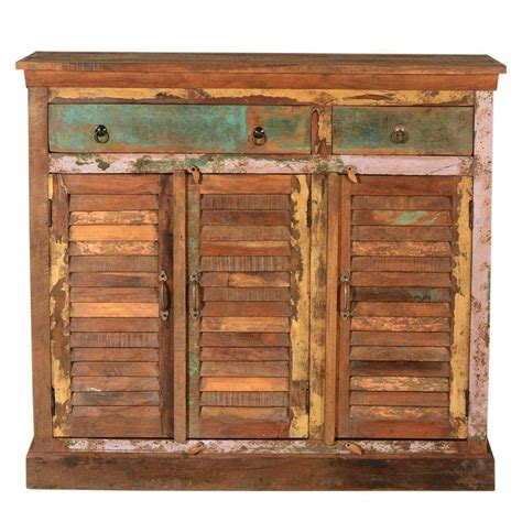 Salvaged Wood Sideboard by Rustic Reclaimed Wood 3 Drawer 3 Door