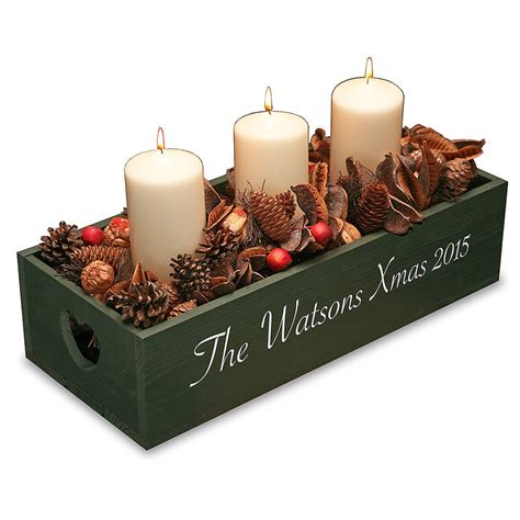 personalised christmas table centre by plantabox notonthehighstreet com