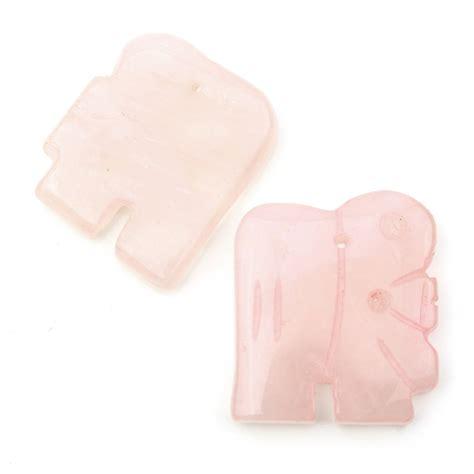 buy elephant shaped pendant  rose quartz   holes