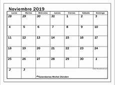 Calendario noviembre 2019 66LD