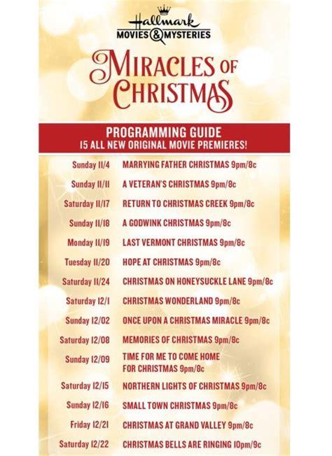 hallmarklifetime christmas  schedule