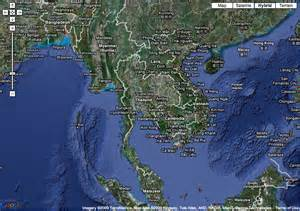 Google Satellite Map Asia