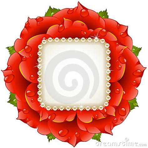 vector red rose circle frame royalty  stock