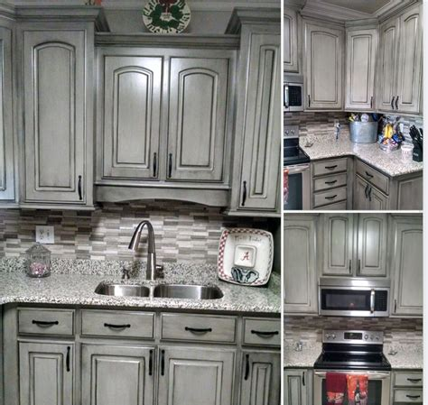 waxing kitchen cabinets grey with black wax kitchen 3366