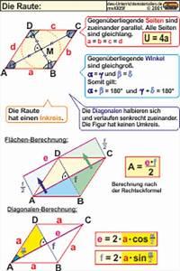 Raute Diagonale Berechnen : mvl005 die raute ~ Themetempest.com Abrechnung