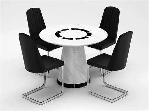 beautiful marble table and 4 chair set specialist