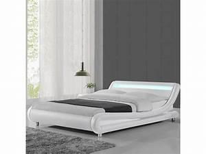 Lit Design Led 160x200. lit led design julio 160x200 blanc vente de ... 32746c6c35d9