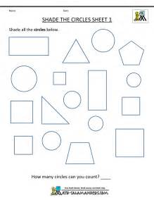 The Worksheet Free Shape Worksheets Kindergarten