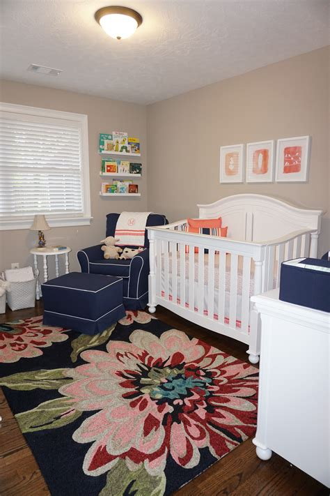 navy and coral nursery for sweet project nursery