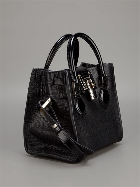 lyst roberto cavalli florence bag  black