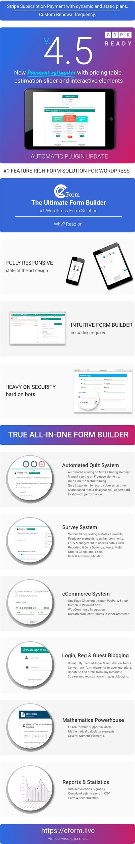 eform form builder eform form builder by wpquark codecanyon