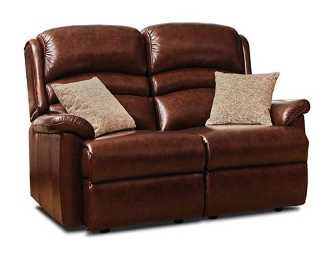2 Seater Settees by Standard Leather Fixed 2 Seater Settee Sherborne