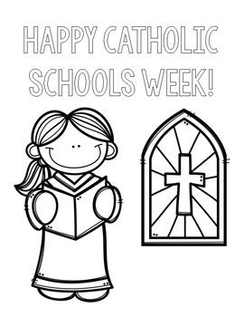 catholic schools week coloring pages  countless smart cookies tpt