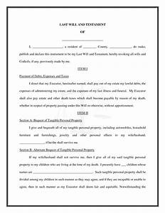 Best photos of free printable last will free printable for Joint will and testament template