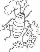 Coloring Cockroach Pages Cartoon Printable Cockroaches Bestcoloringpagesforkids sketch template