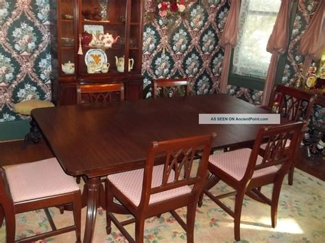 mahogany dining room set for vintage dining room sets 9720