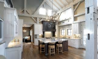 pole barn home interior interior white cabinet on the wooden floor pole barn houses interior with warm chandelier can