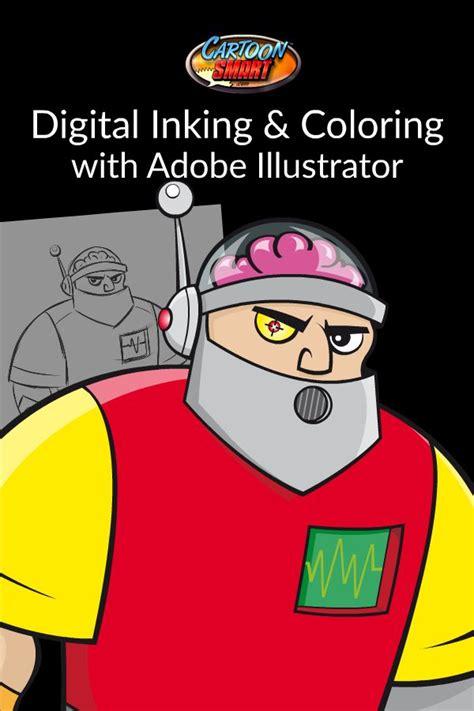 digitally inking  coloring  adobe illustrator