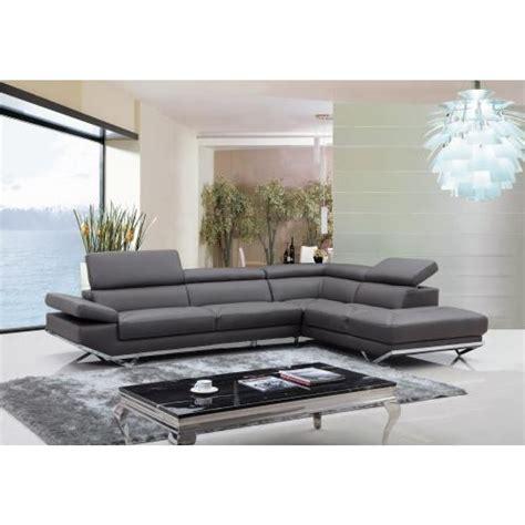 canap d angle semi cuir canapé d 39 angle en cuir véritable siena pop design fr