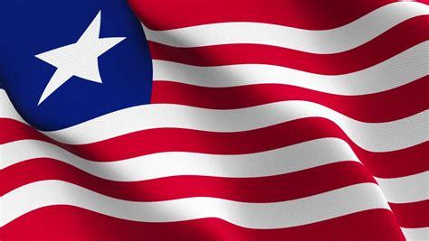 Liberian flag Footage   Stock Clips