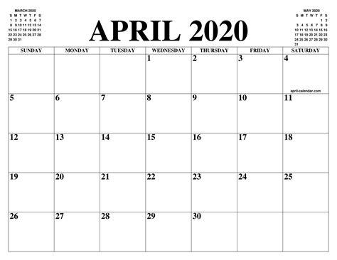 april  calendar   month  printable april