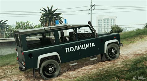 Land Rover Defender Macedonian Police For Gta 5