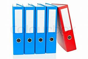 file folder with documents and documents stock photo With document files and folders