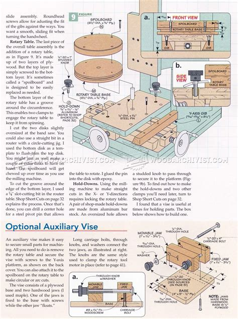diy milling machine woodarchivist