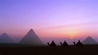 Egypt Pyramids Sunset 4k Wallpapers Ancient Ultra
