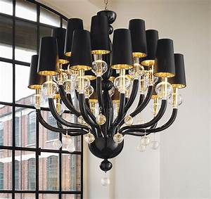 Murano Glass Chandelier Modern : black glass modern murano chandelier black lampshades ~ Sanjose-hotels-ca.com Haus und Dekorationen