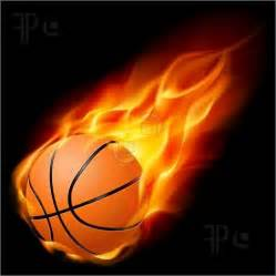 Basketball On Fire Clip Art