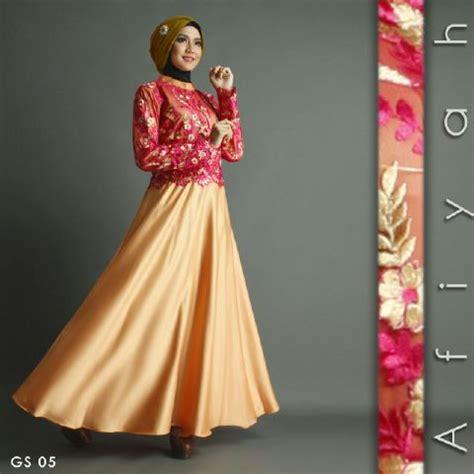 Gamis Gold baju gamis pesta premium a207 gold cantik model mewah
