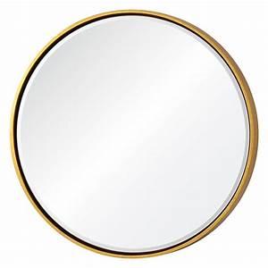 Cooper Classics Wren Gold Round Mirror 41135 Bellacor