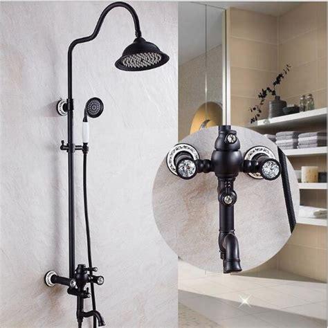 luxury high quality bathroom black oil brushed rain shower